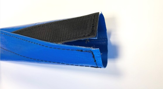 Velcro bescherhoezen PVC blauw
